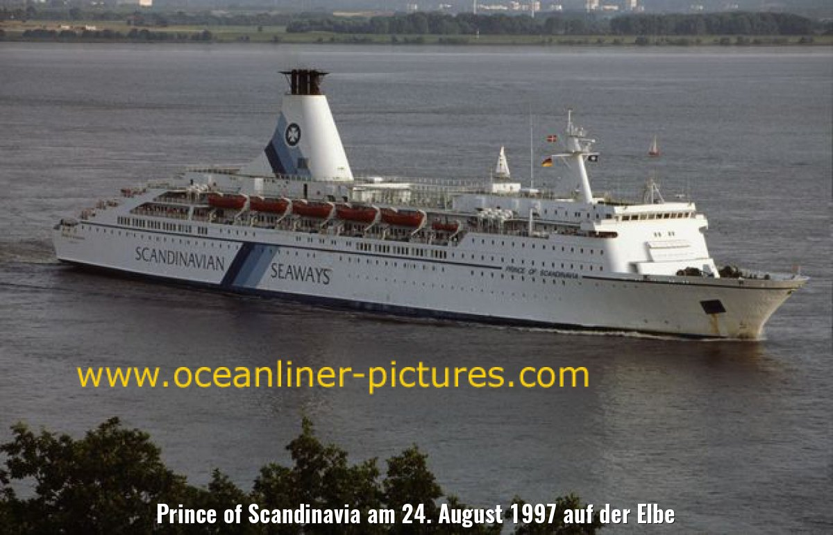 Prince of Scandinavia am 24. August 1997 auf der Elbe