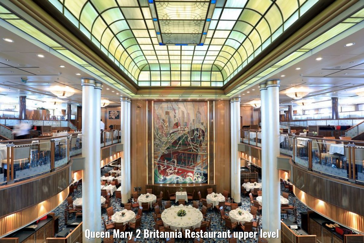 Queen Mary 2 Britannia Restaurant upper level