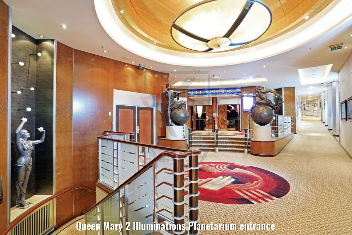 Queen Mary 2 Illuminations Planetarium entrance