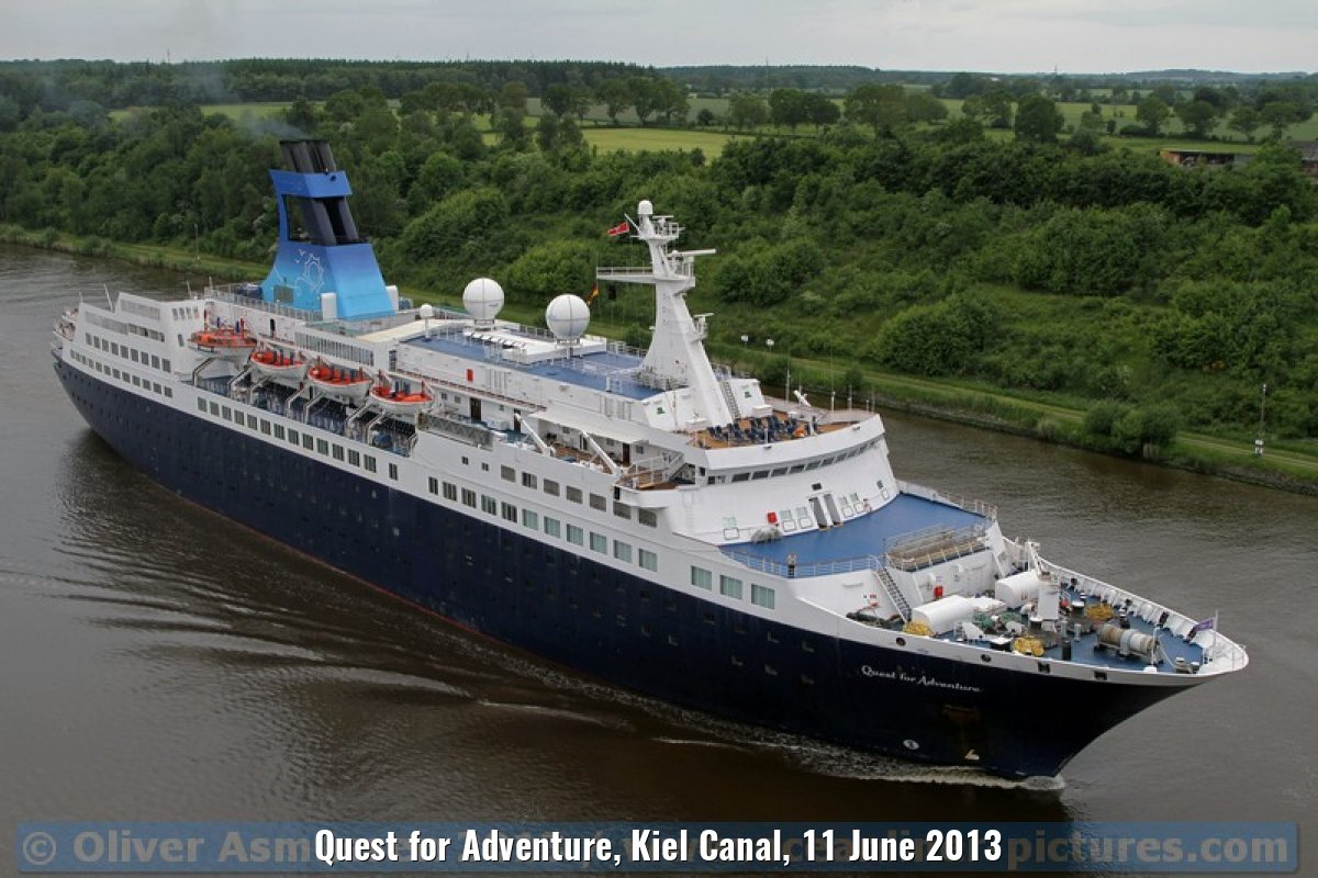 Quest for Adventure, Kiel Canal, 11 June 2013