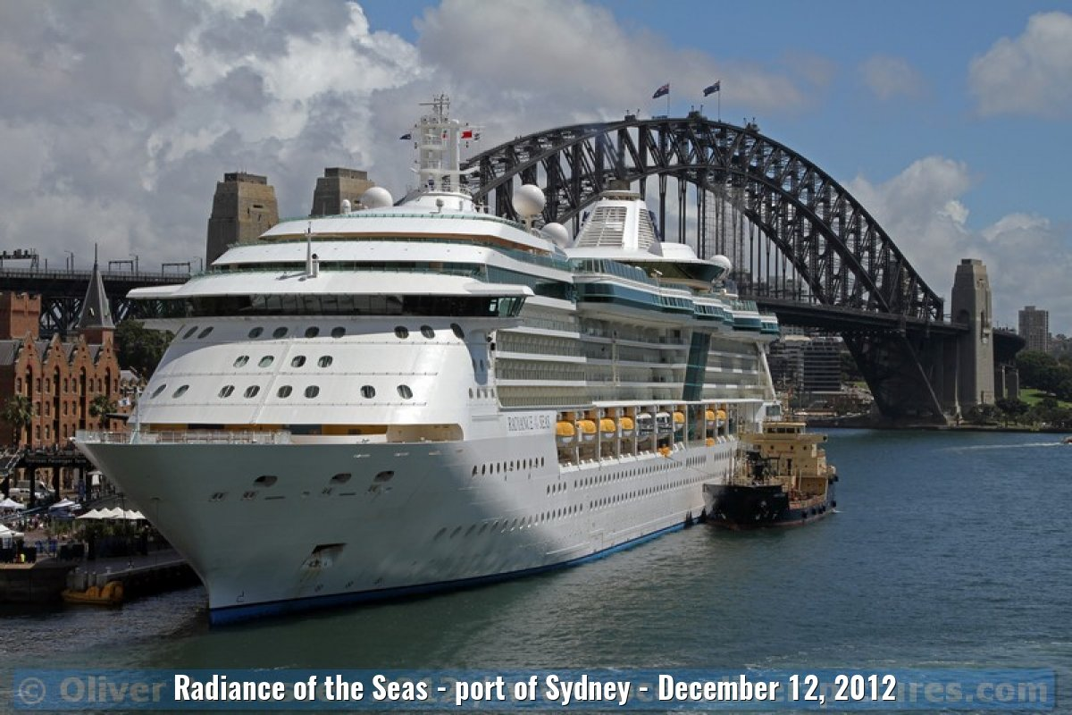 Radiance of the Seas - port of Sydney - December 12, 2012