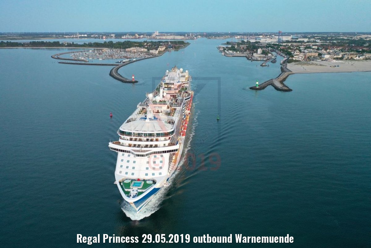 Regal Princess 29.05.2019 outbound Warnemuende