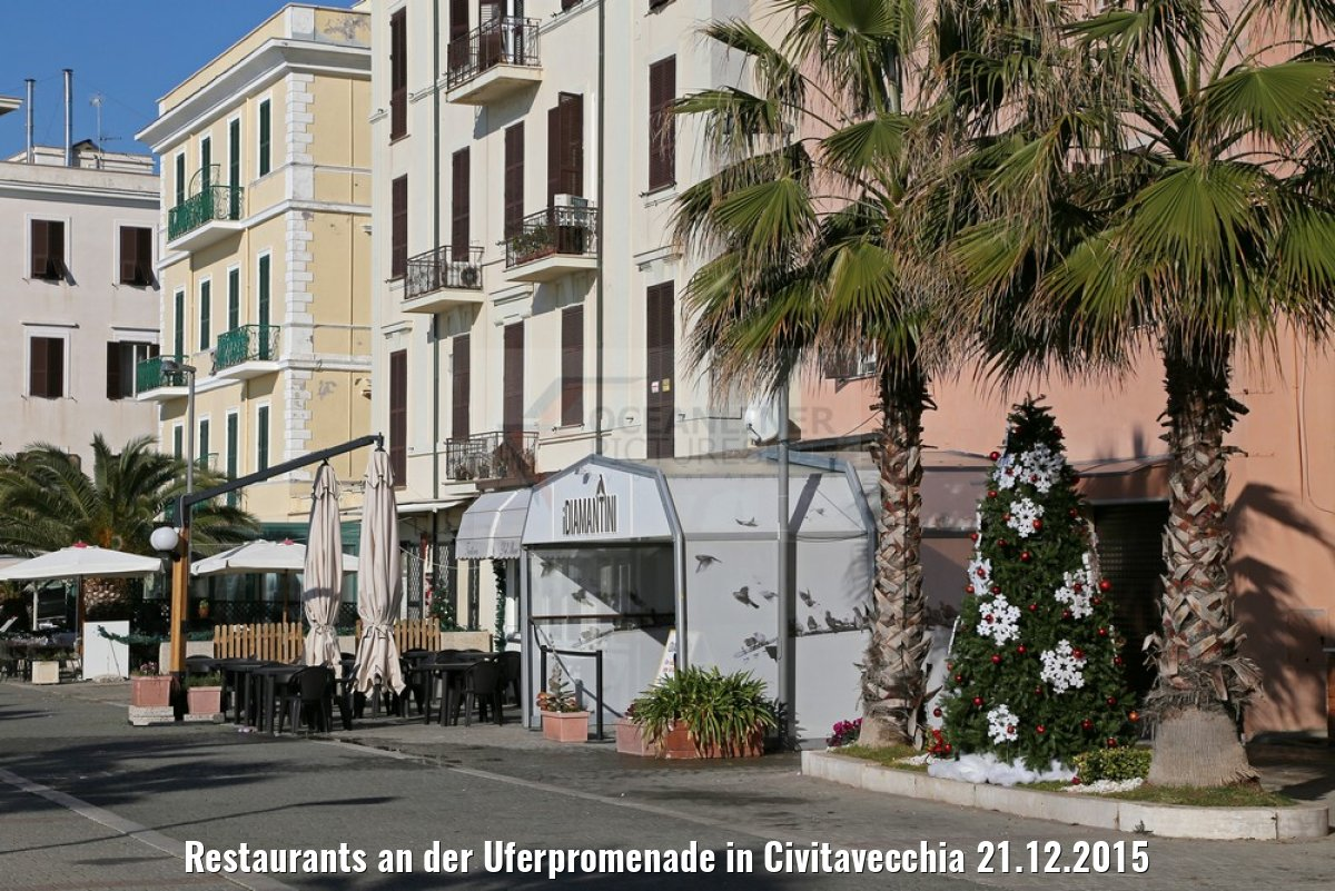 Restaurants an der Uferpromenade in Civitavecchia 21.12.2015