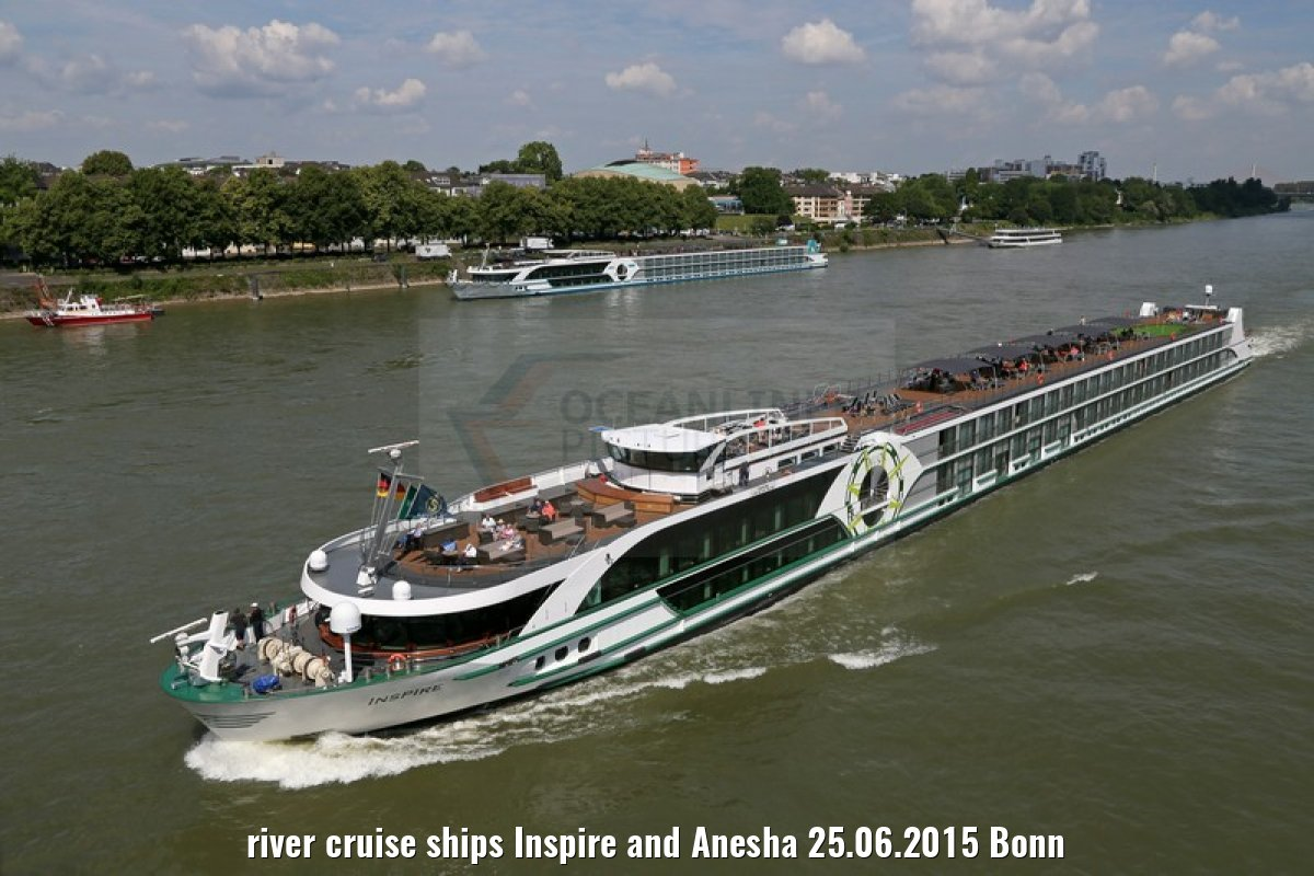 river cruise ships Inspire and Anesha 25.06.2015 Bonn