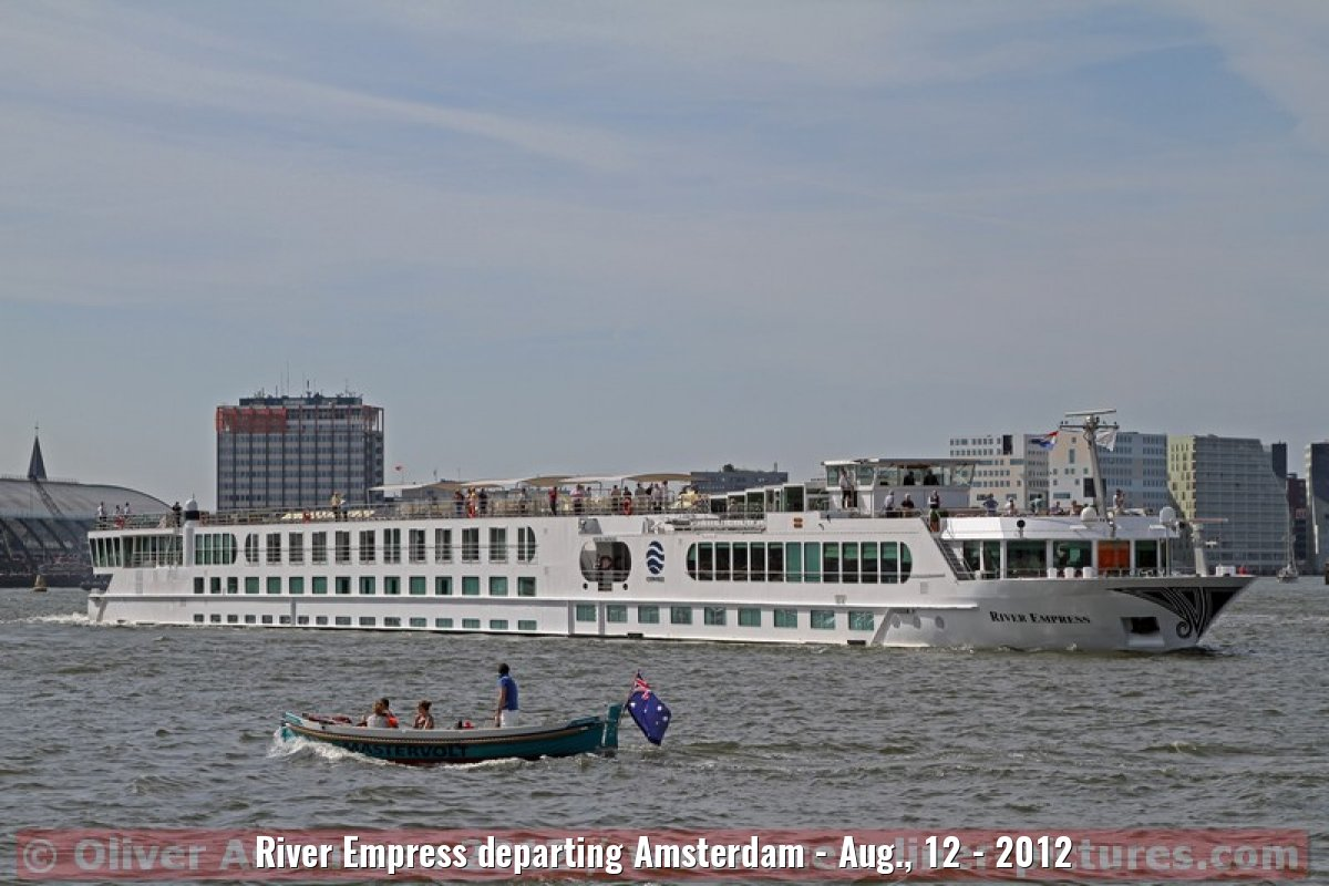 River Empress departing Amsterdam - Aug., 12 - 2012