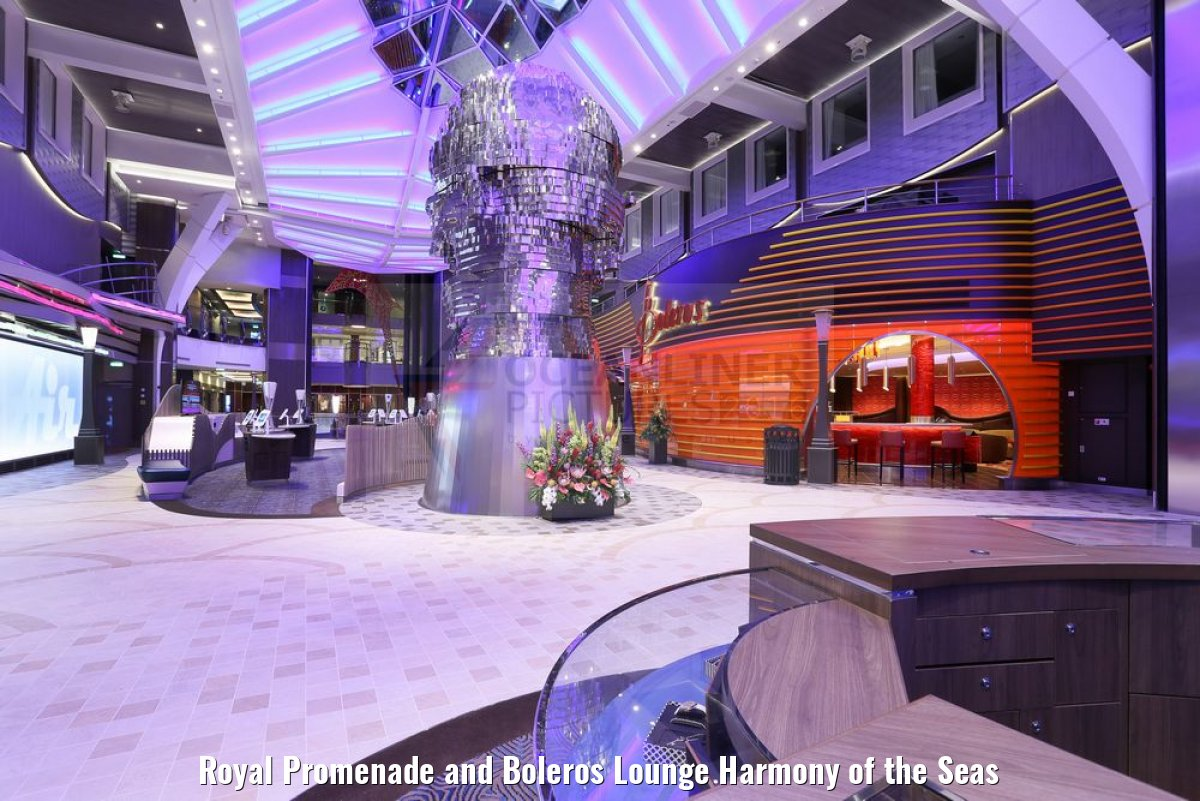 Royal Promenade and Boleros Lounge Harmony of the Seas