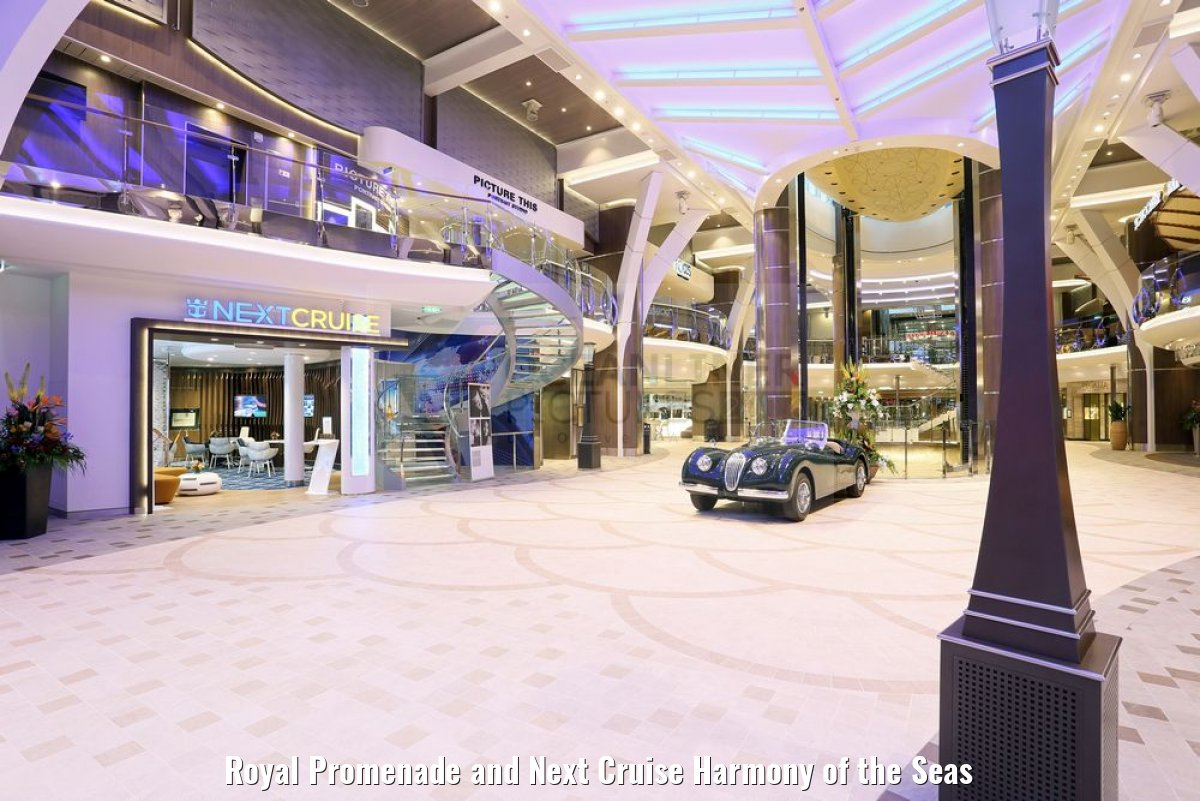 Royal Promenade and Next Cruise Harmony of the Seas