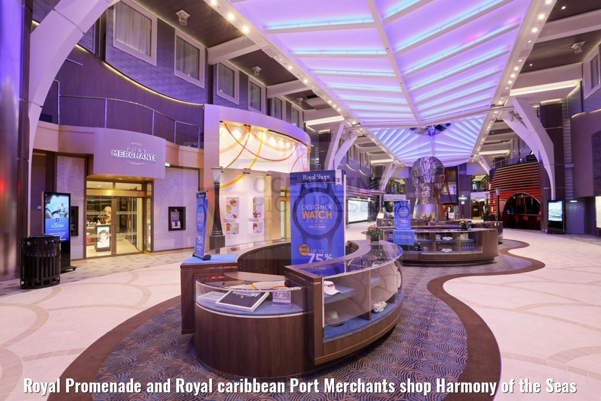 Royal Promenade and Royal caribbean Port Merchants shop Harmony of the Seas