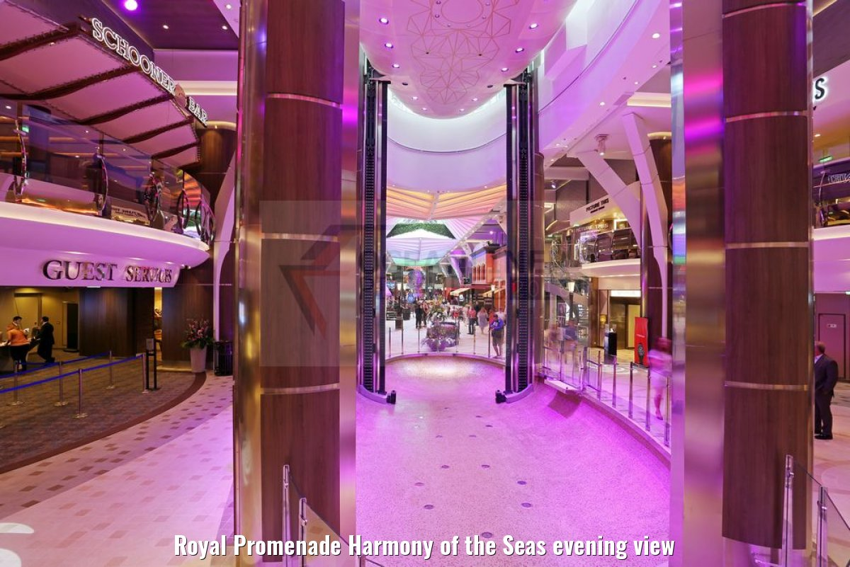 Royal Promenade Harmony of the Seas evening view