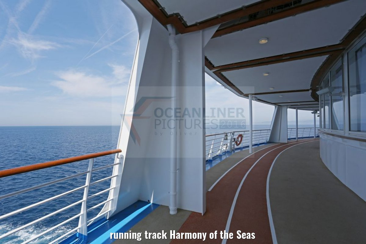 running track Harmony of the Seas