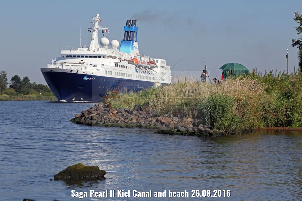 Saga Pearl II Kiel Canal and beach 26.08.2016