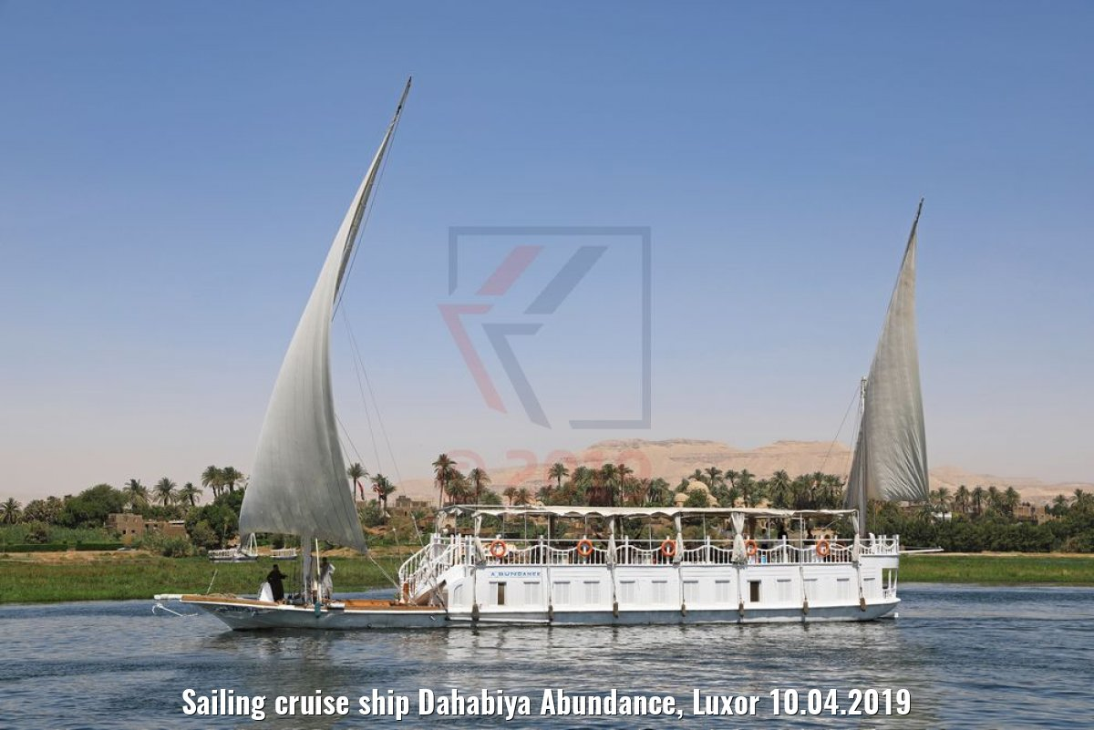 Sailing cruise ship Dahabiya Abundance, Luxor 10.04.2019