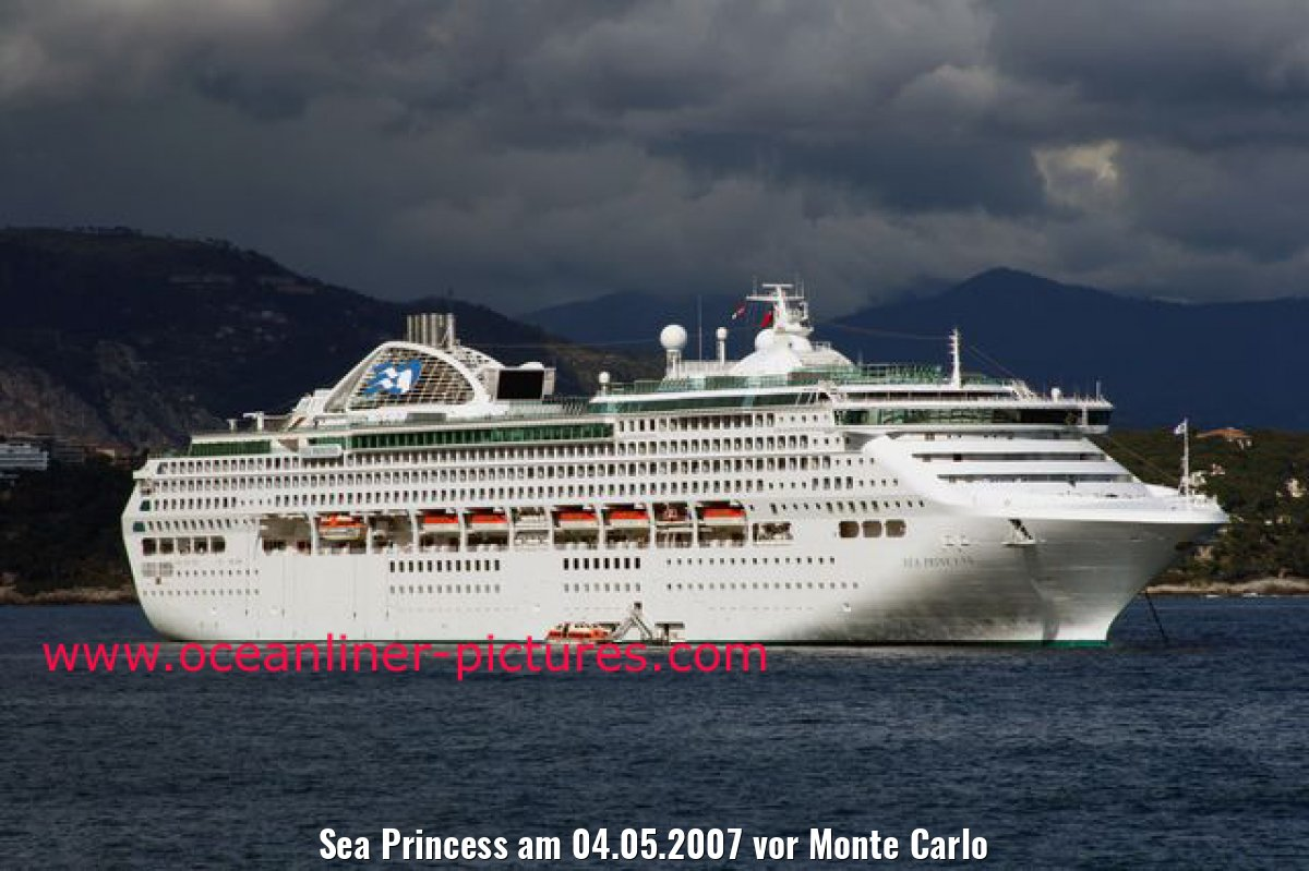 Sea Princess am 04.05.2007 vor Monte Carlo