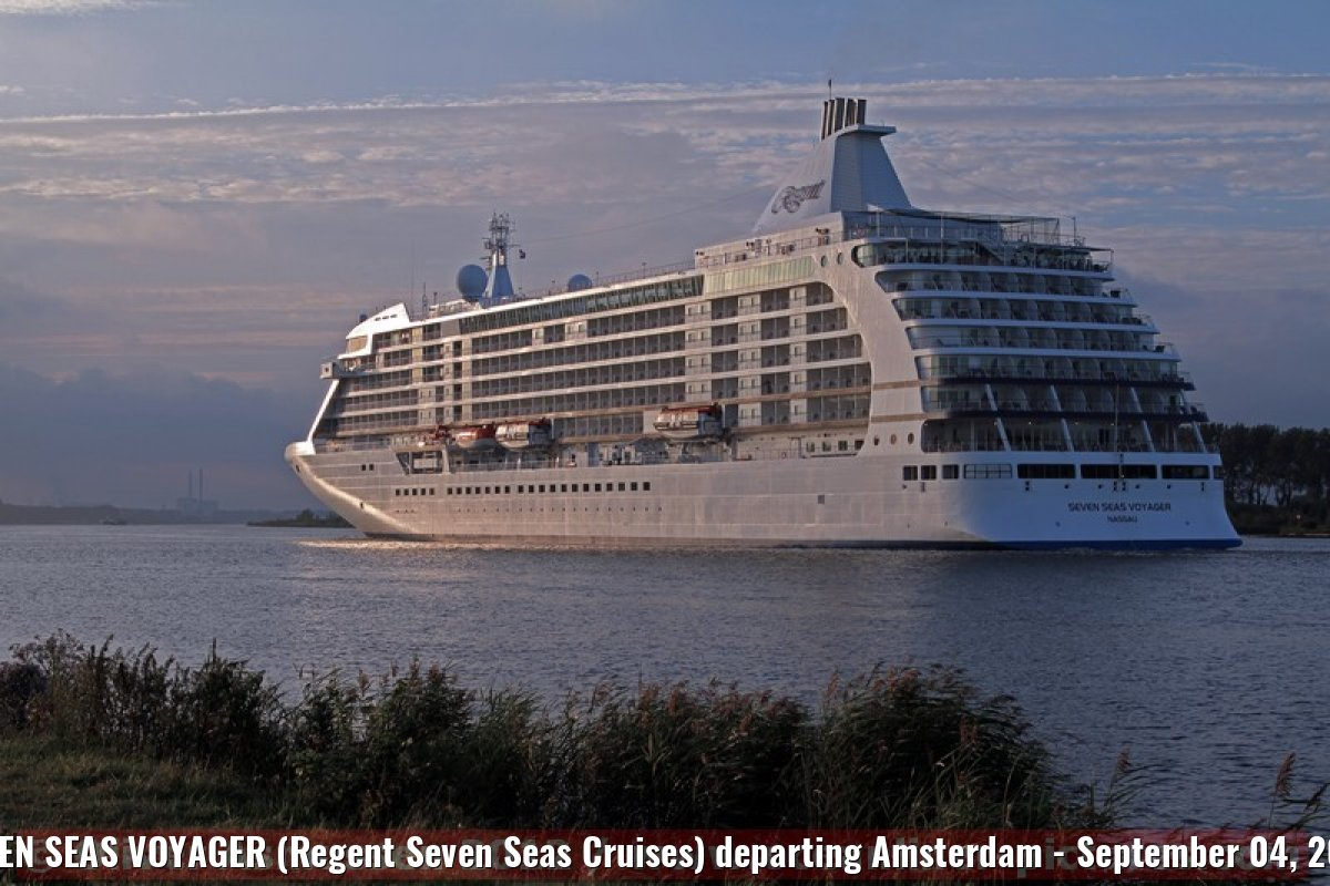 SEVEN SEAS VOYAGER (Regent Seven Seas Cruises) departing Amsterdam - September 04, 2012