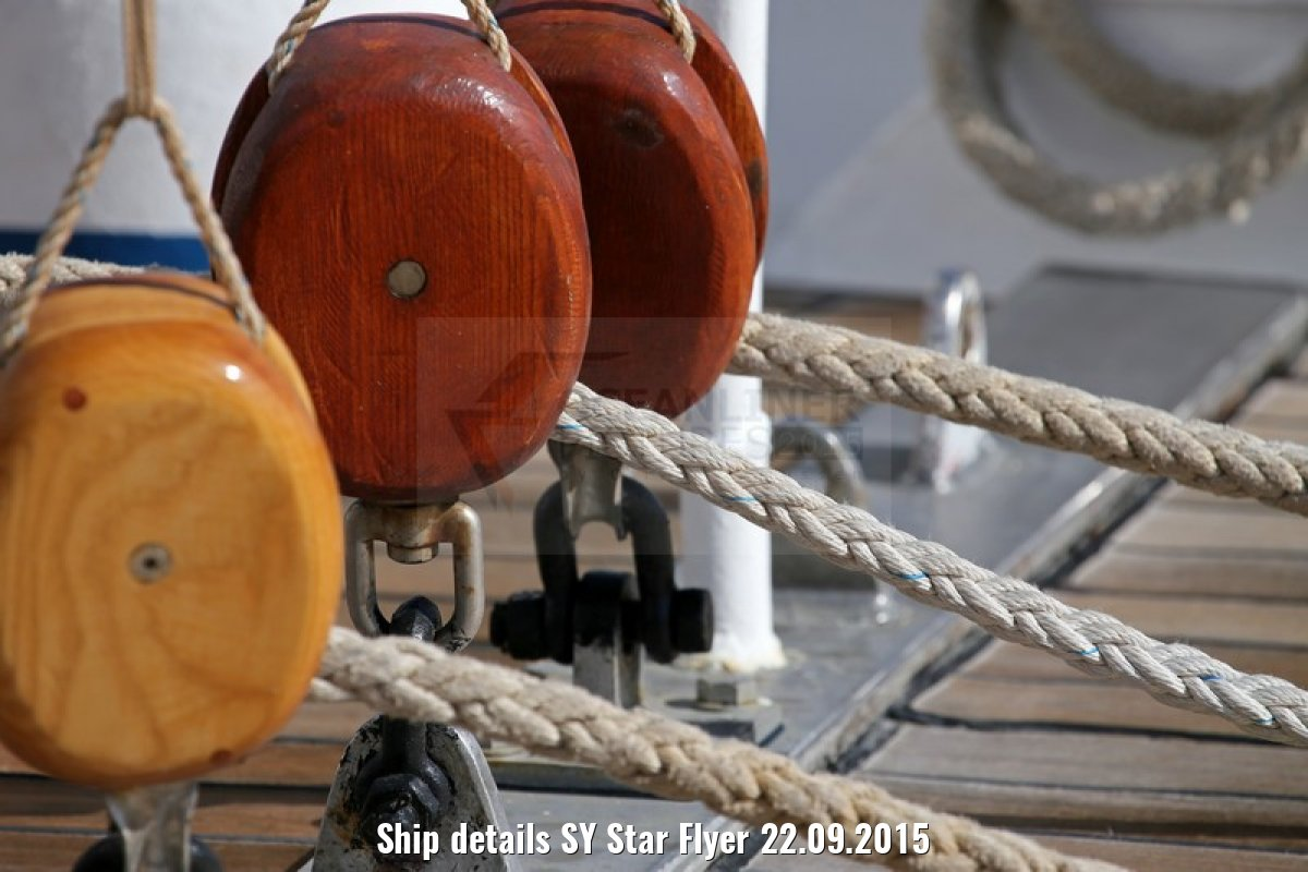 Ship details SY Star Flyer 22.09.2015