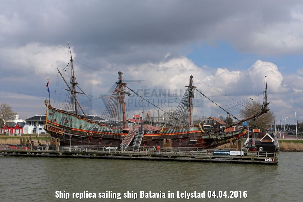 Ship replica sailing ship Batavia in Lelystad 04.04.2016
