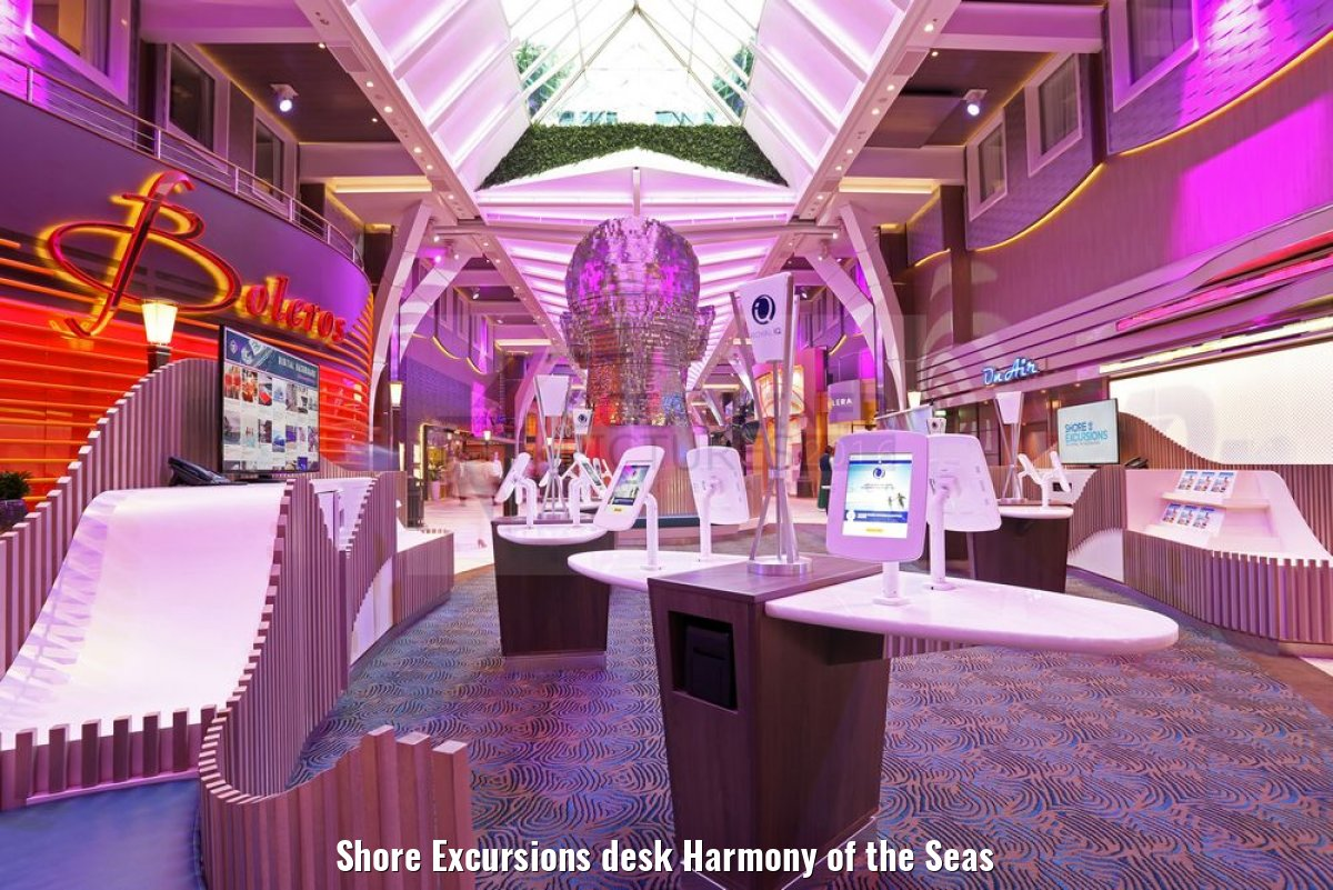 Shore Excursions desk Harmony of the Seas