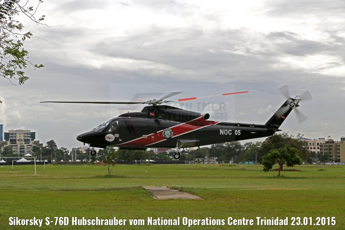 Sikorsky S-76D Hubschrauber vom National Operations Centre Trinidad 23.01.2015