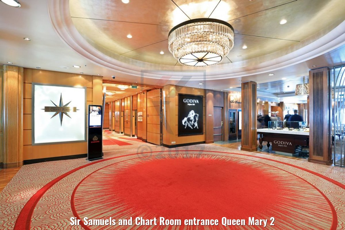 Sir Samuels and Chart Room entrance Queen Mary 2