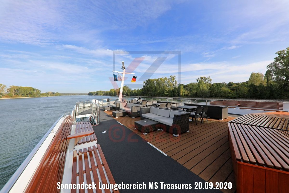 Sonnendeck Loungebereich MS Treasures 20.09.2020