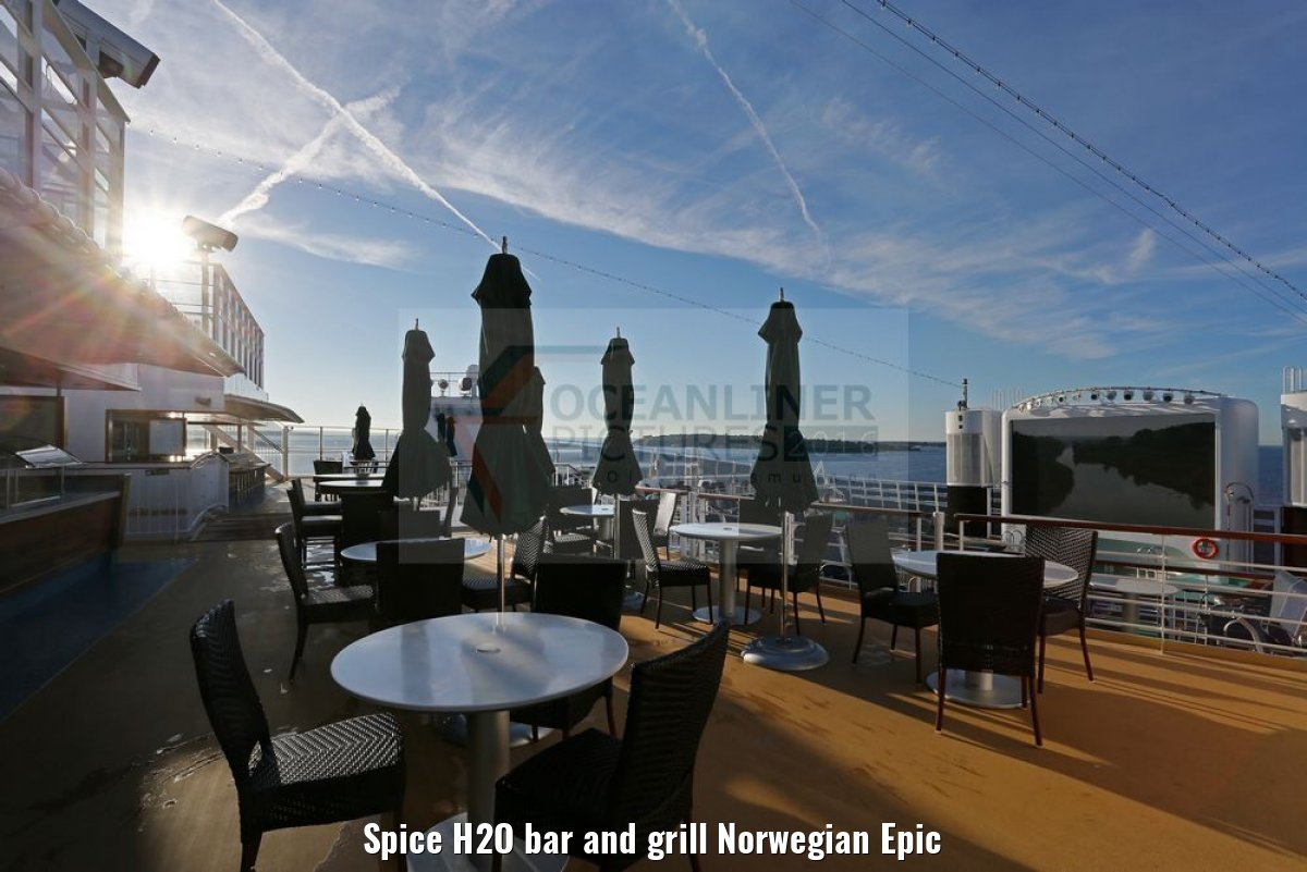 Spice H2O bar and grill Norwegian Epic