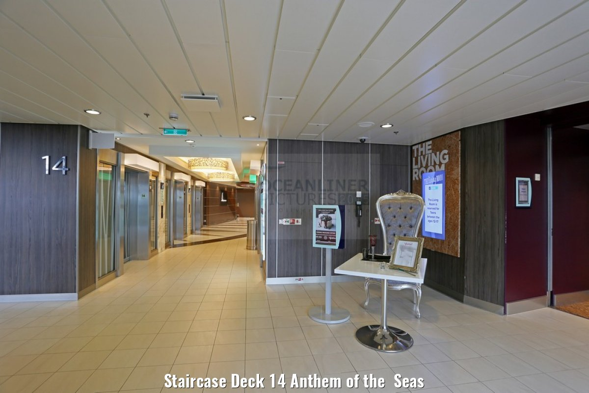 Staircase Deck 14 Anthem of the Seas