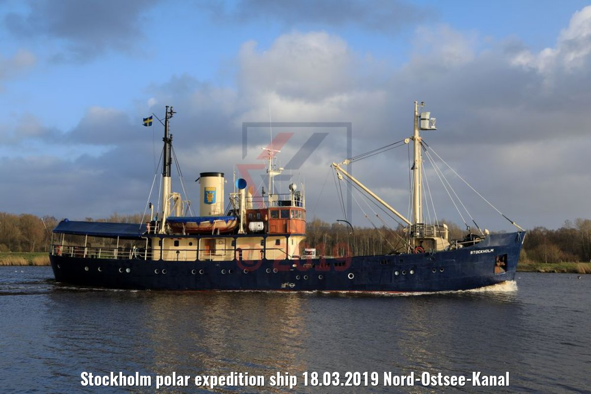 Stockholm polar expedition ship 18.03.2019 Nord-Ostsee-Kanal