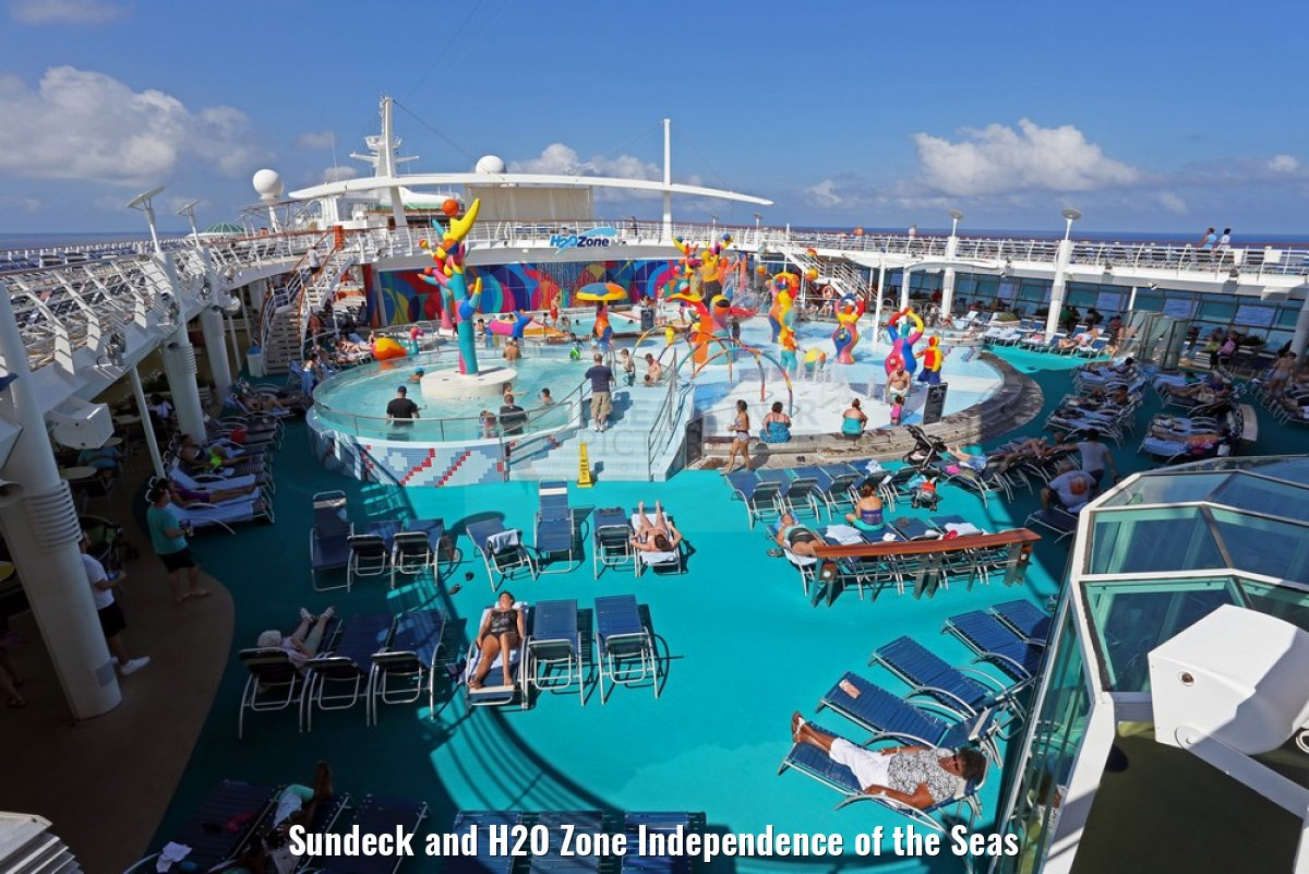 Sundeck and H2O Zone Independence of the Seas
