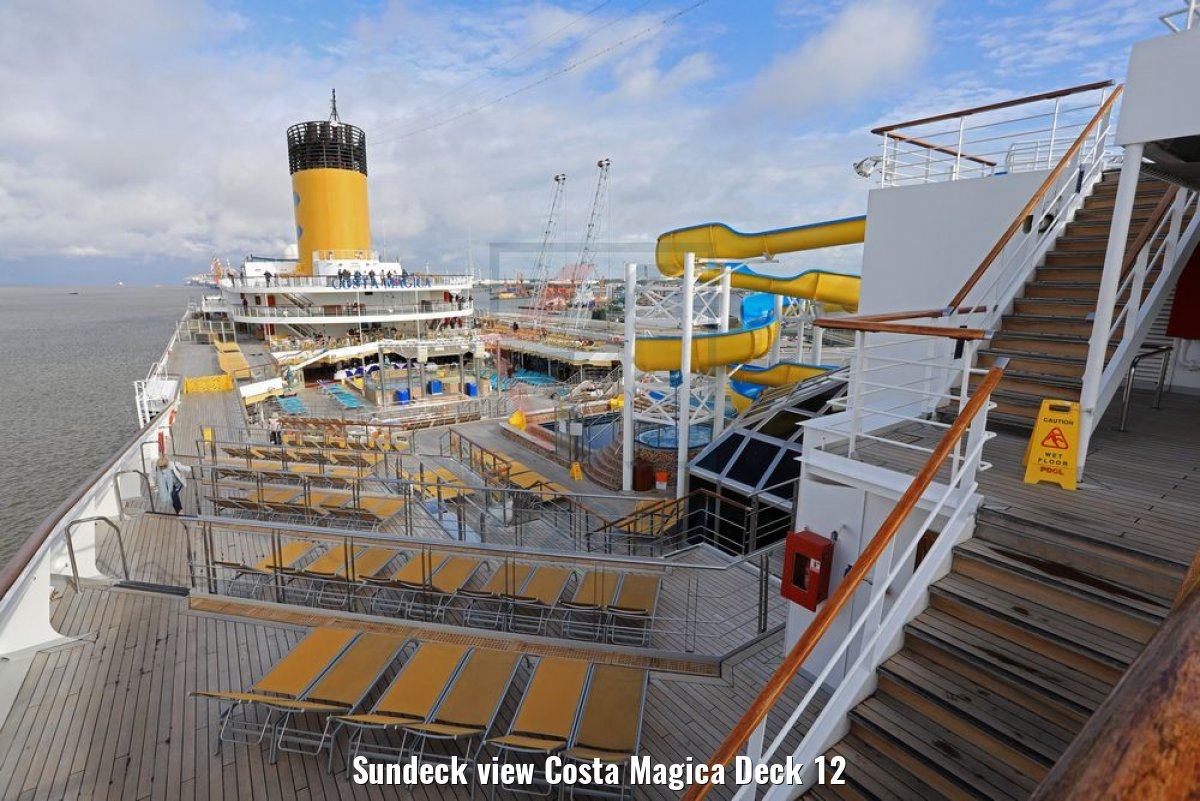 Sundeck view Costa Magica Deck 12