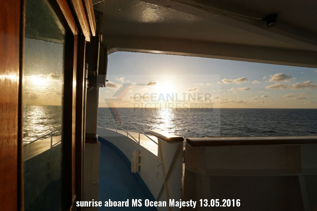 sunrise aboard MS Ocean Majesty 13.05.2016