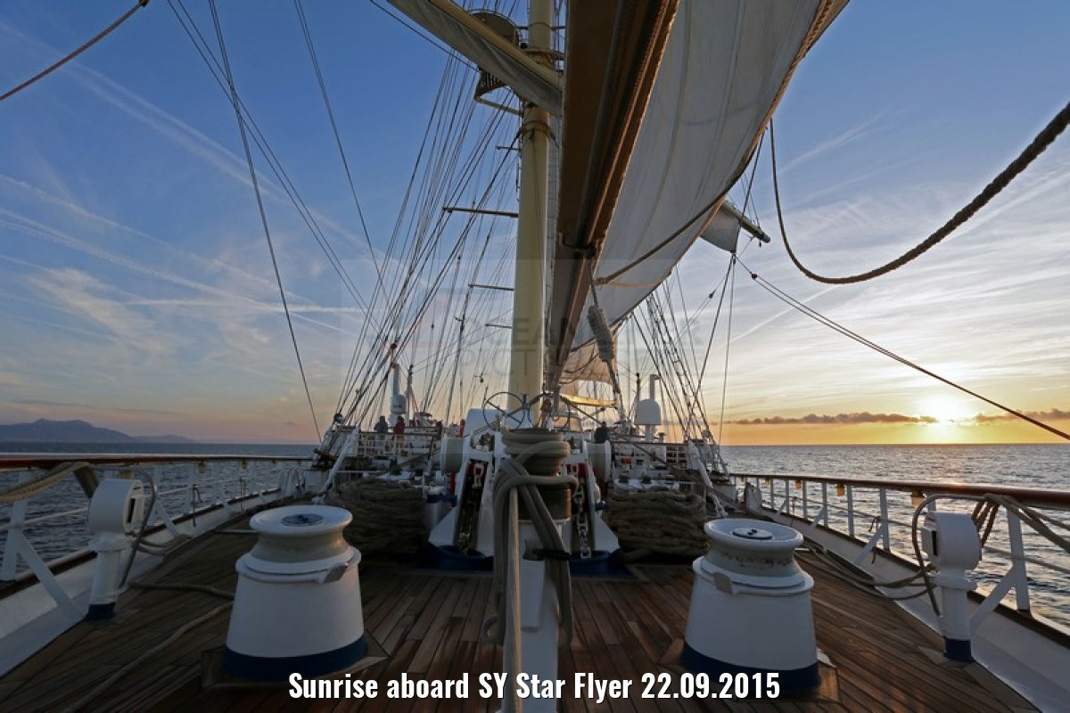 Sunrise aboard SY Star Flyer 22.09.2015
