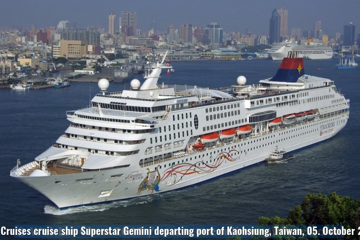 Star Cruises cruise ship Superstar Gemini departing port of Kaohsiung, Taiwan, 05. October 2013