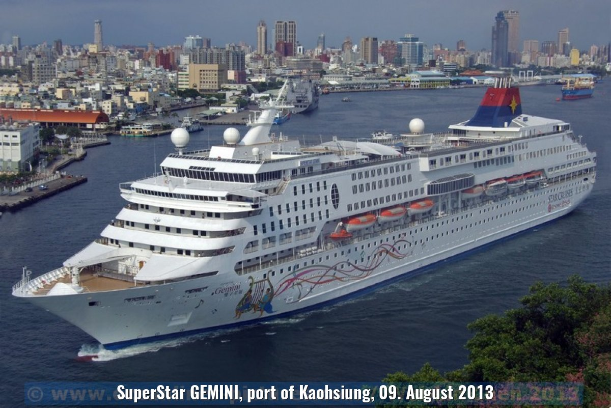 SuperStar GEMINI, port of Kaohsiung, 09. August 2013