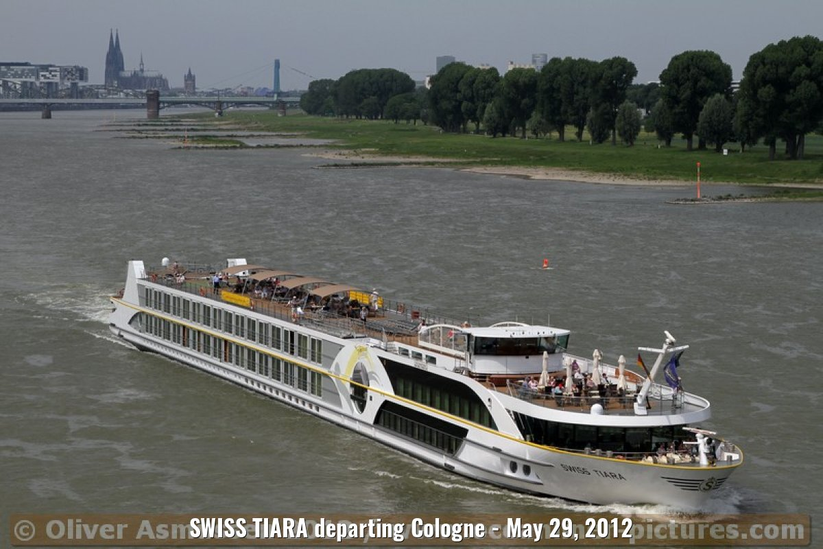 SWISS TIARA departing Cologne - May 29, 2012