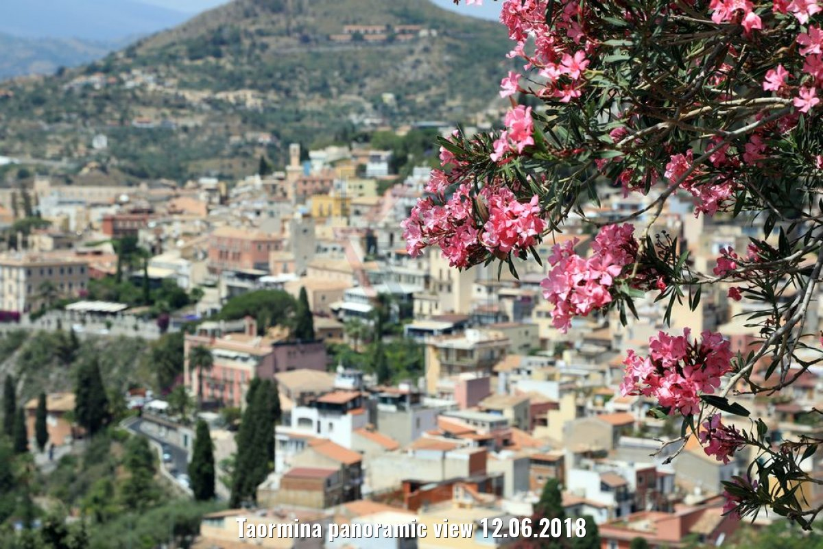 Taormina panoramic view 12.06.2018