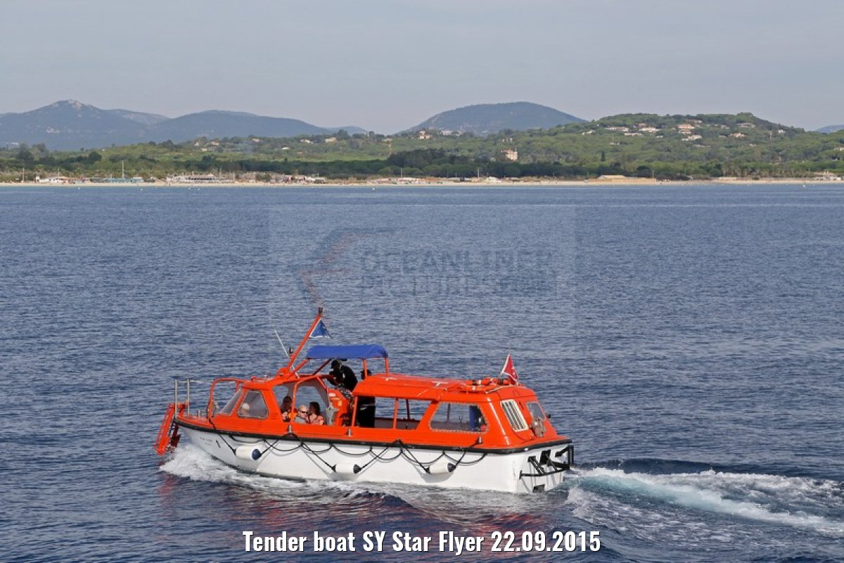 Tender boat SY Star Flyer 22.09.2015