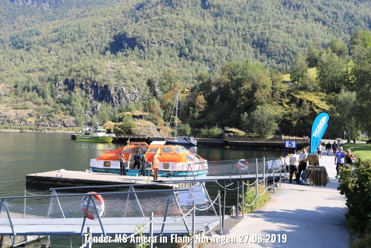Tender MS Amera in Flam, Norwegen 27.08.2019