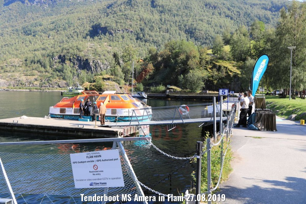 Tenderboot MS Amera in Flam 27.08.2019