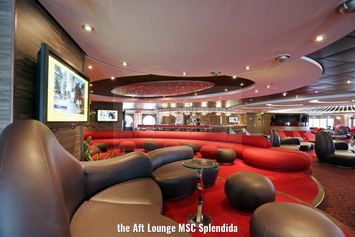 the Aft Lounge MSC Splendida