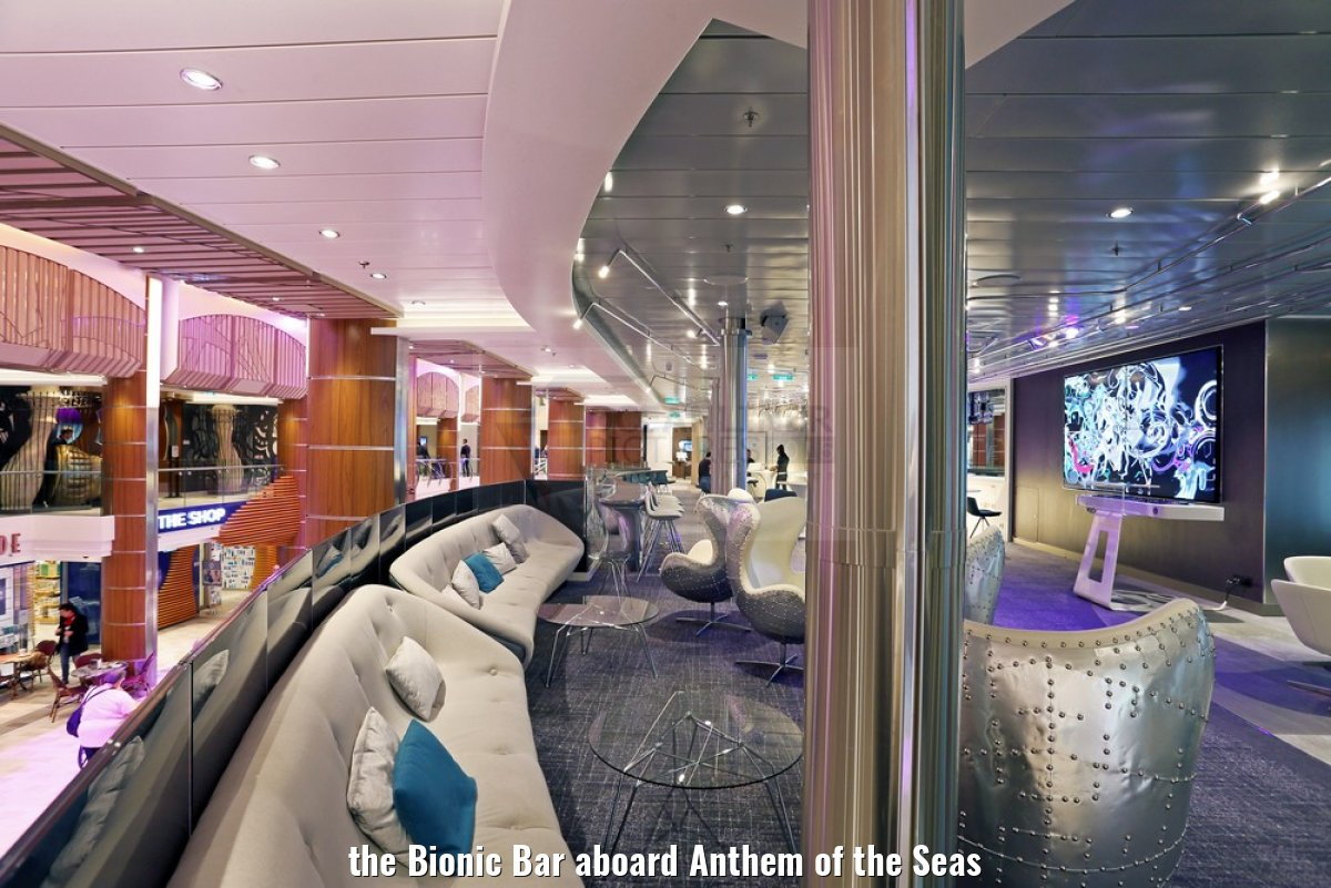 the Bionic Bar aboard Anthem of the Seas