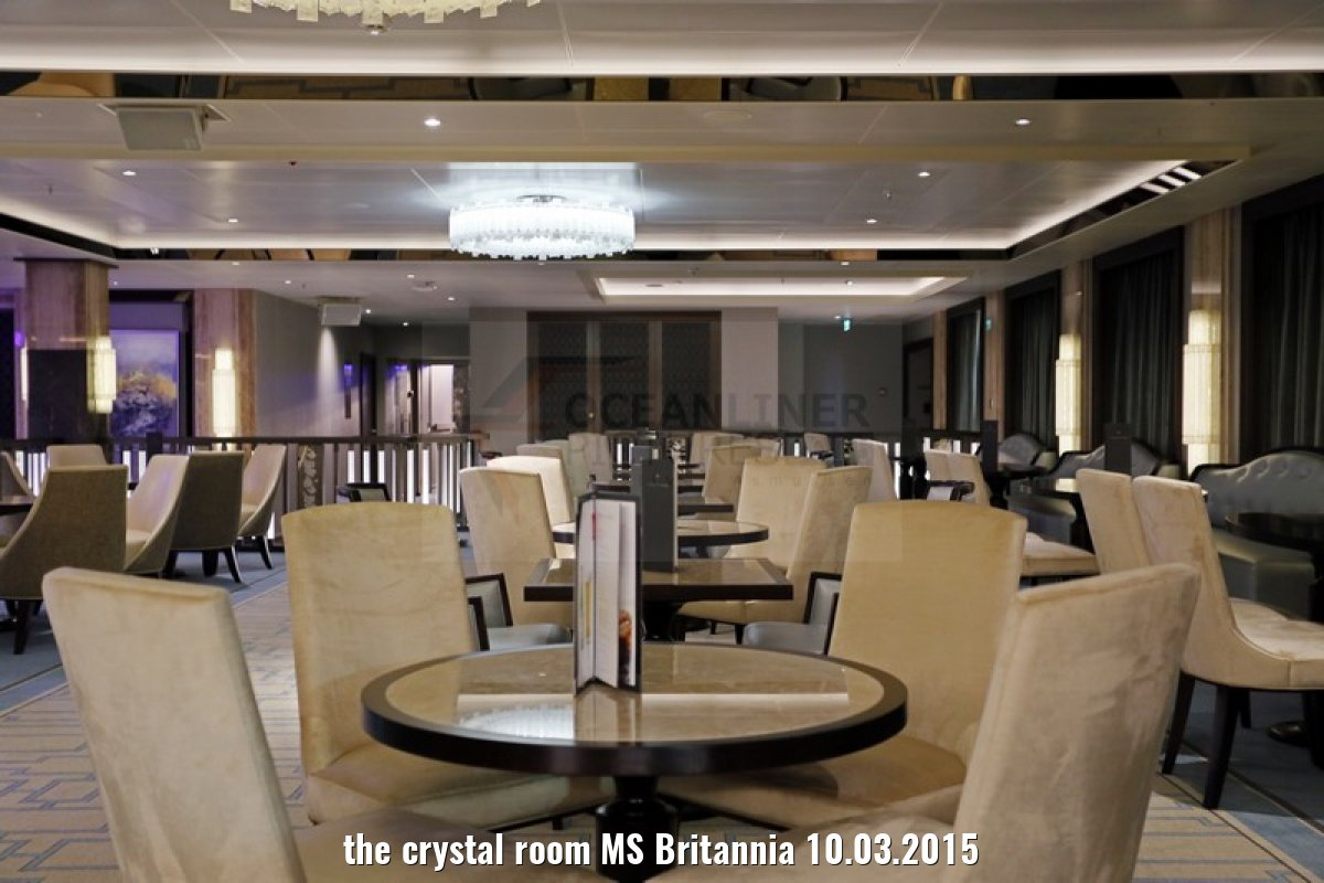 the crystal room MS Britannia 10.03.2015