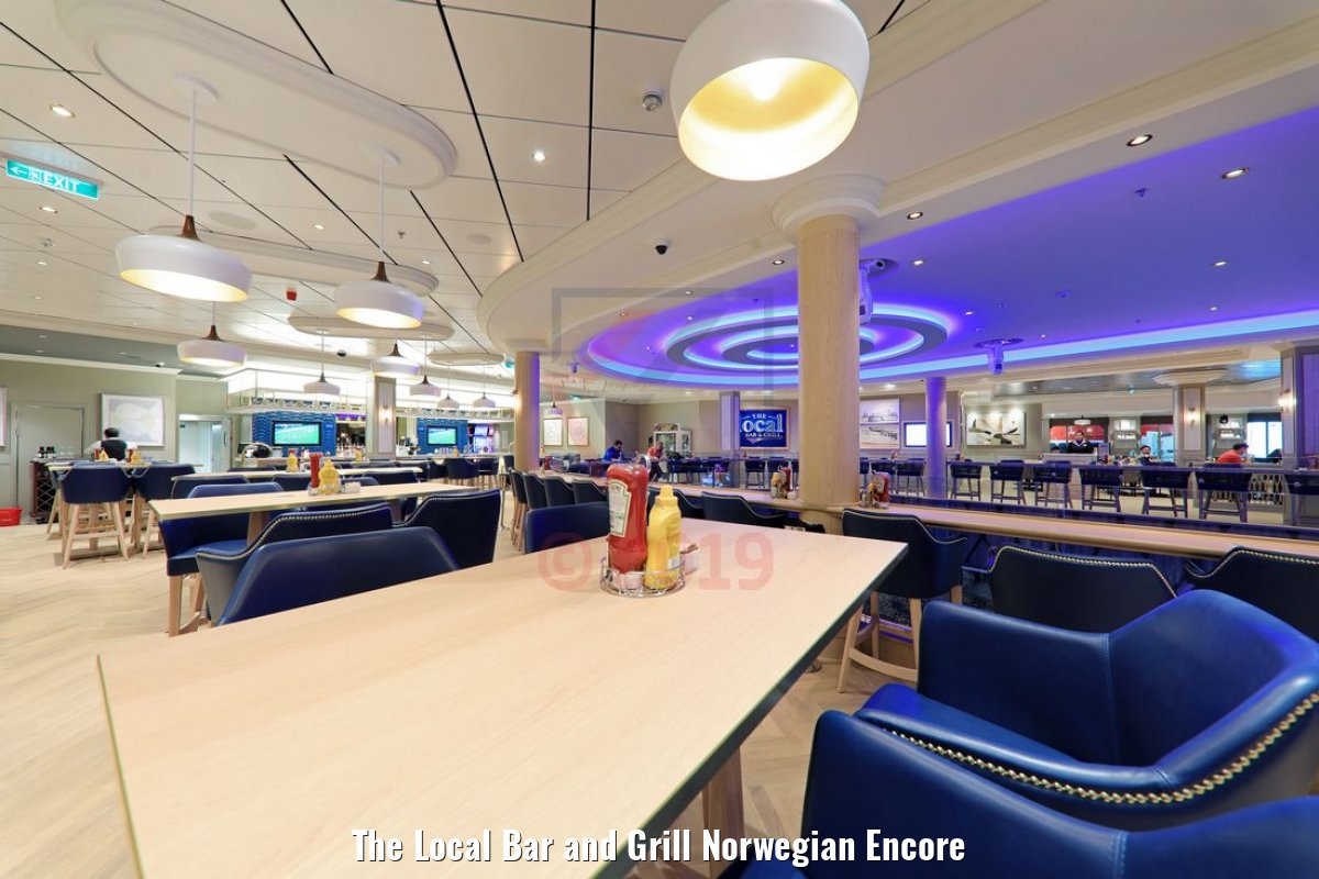The Local Bar and Grill Norwegian Encore