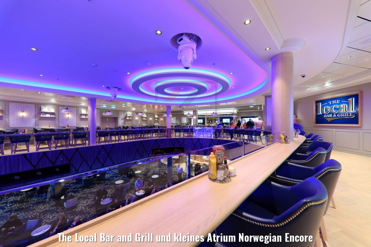 The Local Bar and Grill und kleines Atrium Norwegian Encore