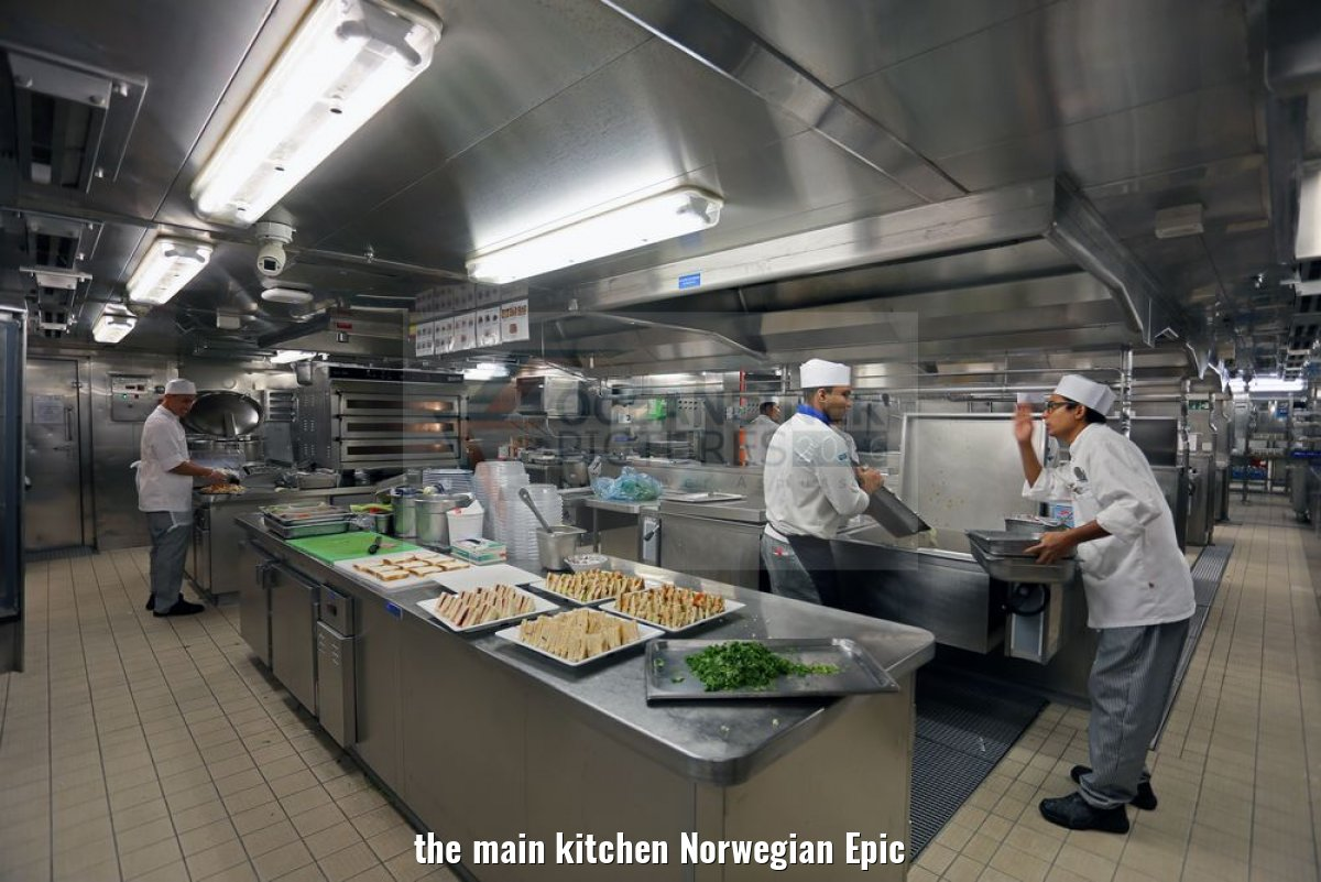 the main kitchen Norwegian Epic