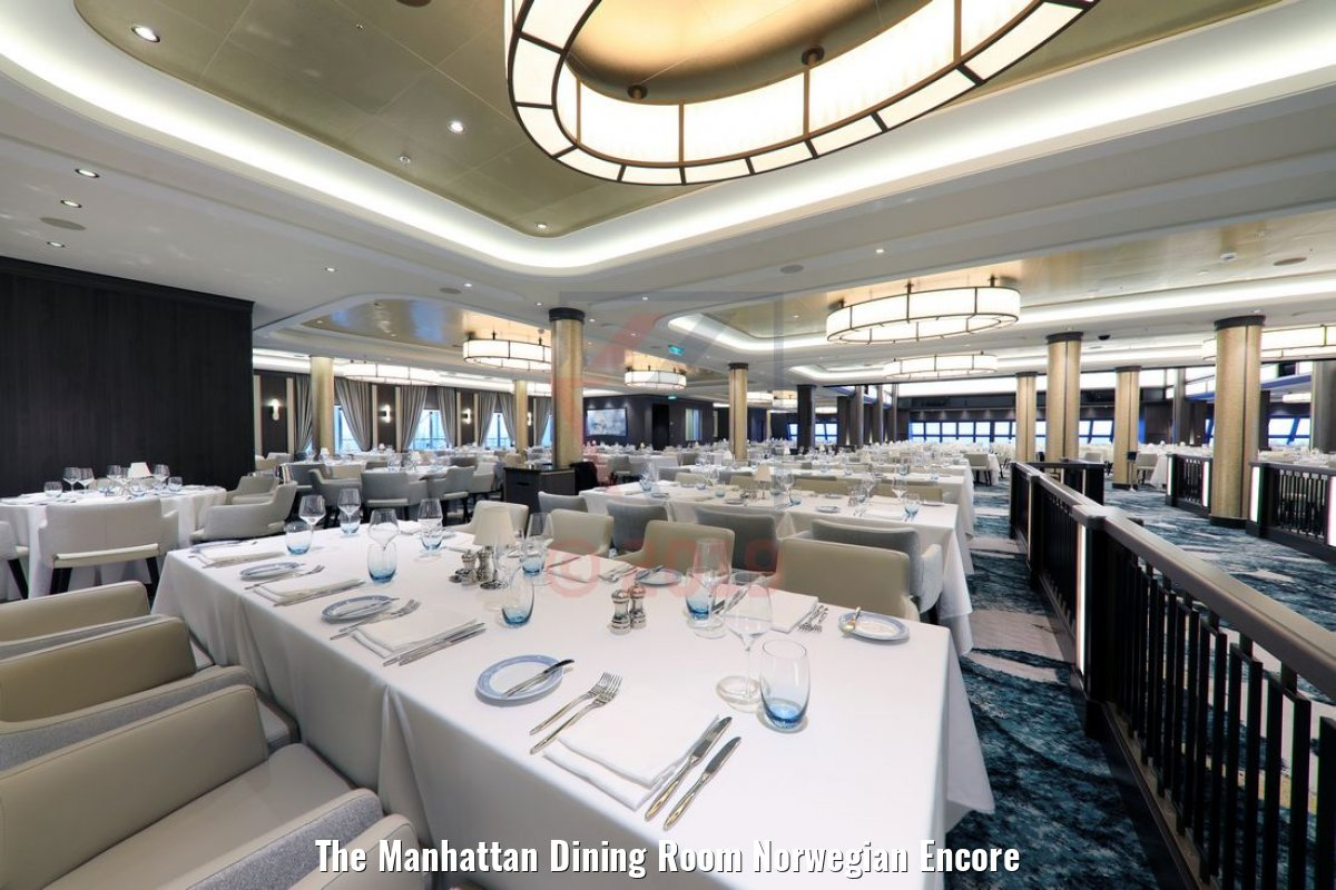The Manhattan Dining Room Norwegian Encore