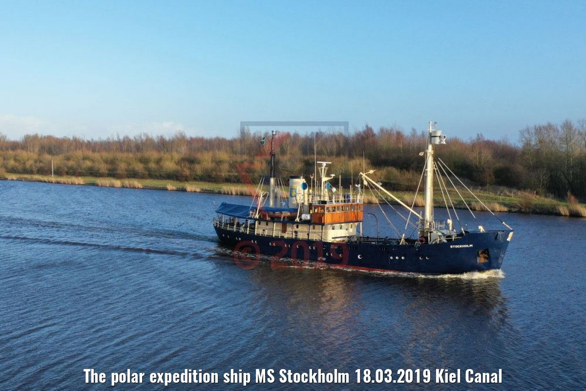 The polar expedition ship MS Stockholm 18.03.2019 Kiel Canal