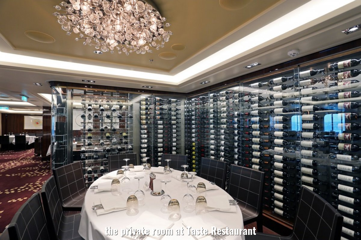 the private room at Taste Restaurant