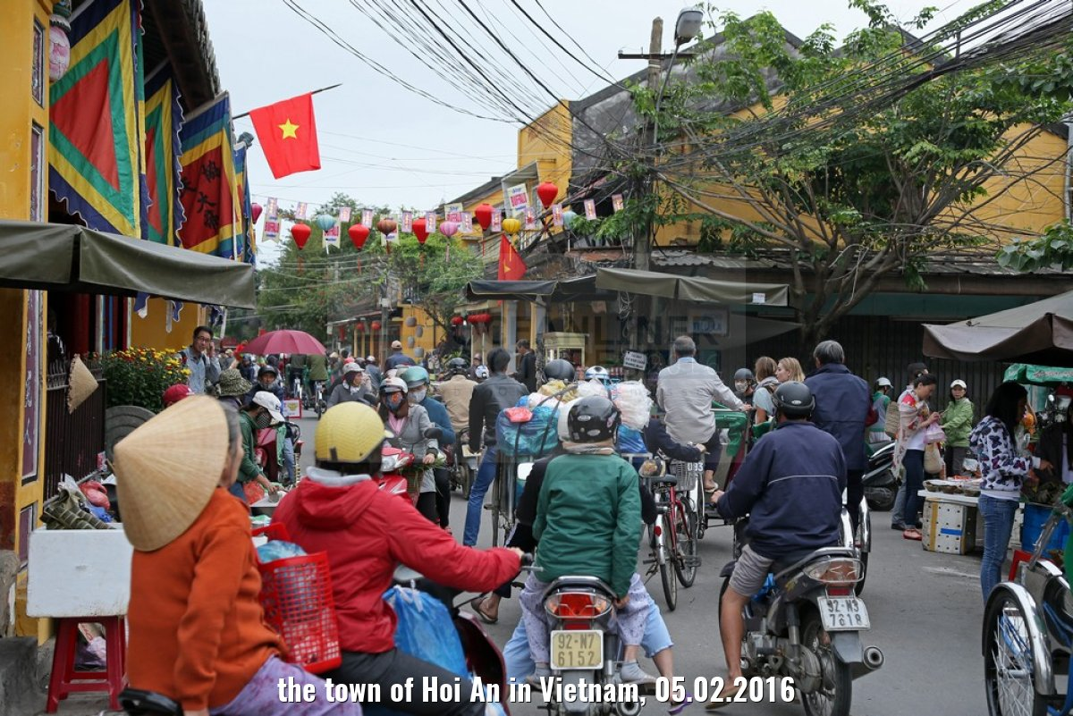 the town of Hoi An in Vietnam, 05.02.2016