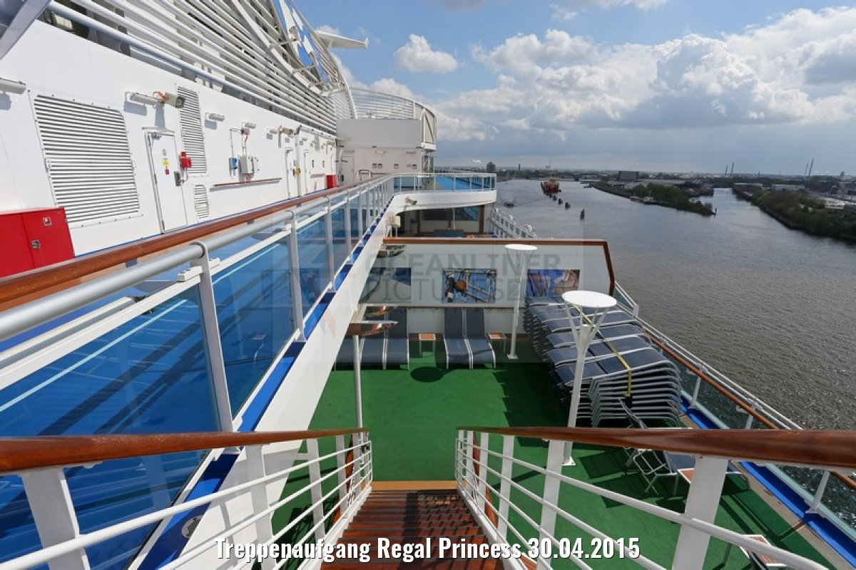 Treppenaufgang Regal Princess 30.04.2015
