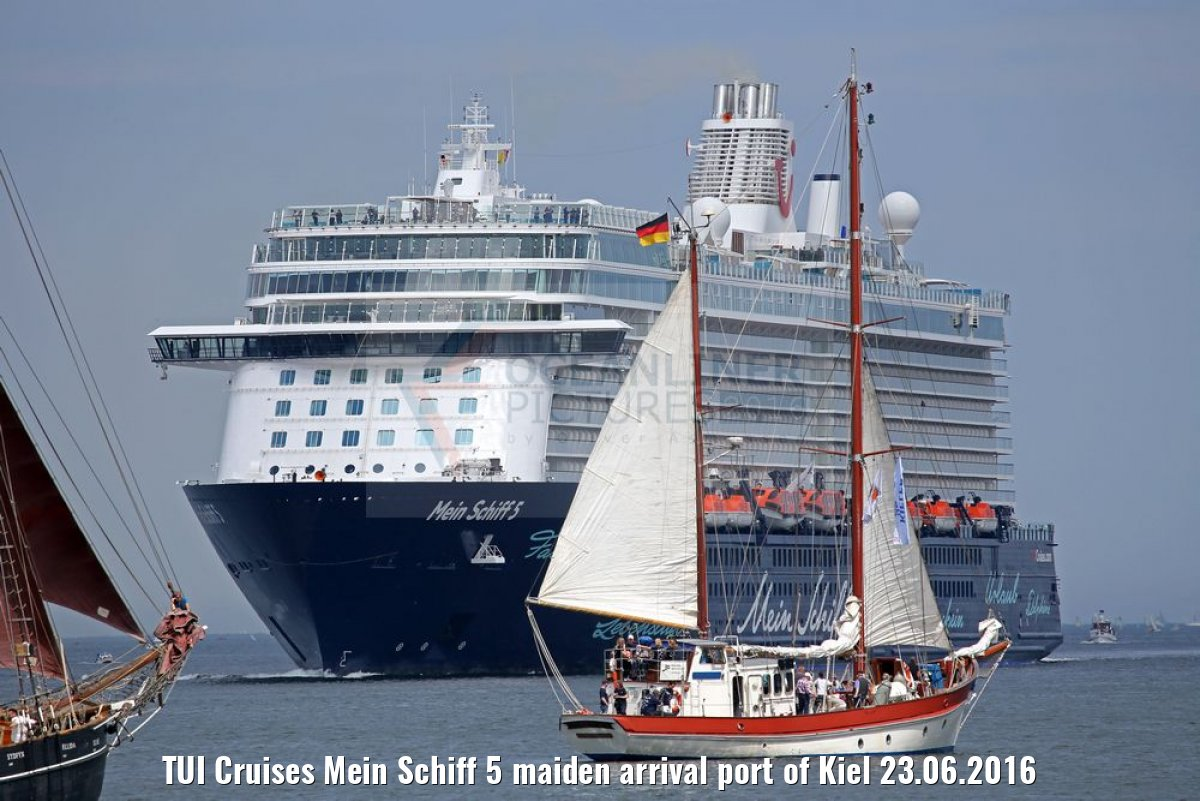 TUI Cruises Mein Schiff 5 maiden arrival port of Kiel 23.06.2016